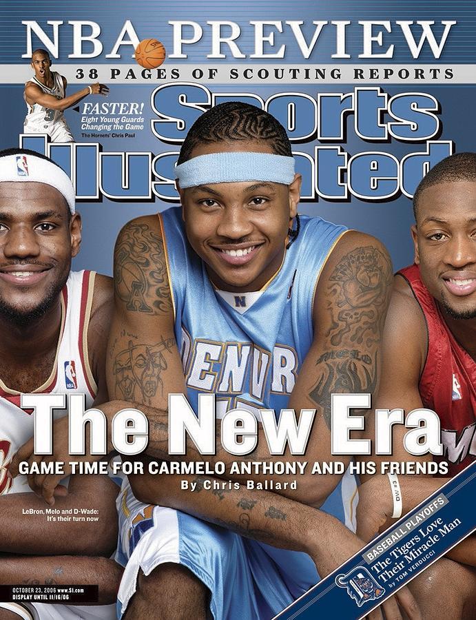 Denver Nuggets Carmelo Anthony Sports Illustrated Cover Photograph by Sports Illustrated