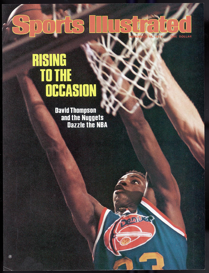 Denver Nuggets David Thompson Sports Illustrated Cover Photograph by Sports Illustrated
