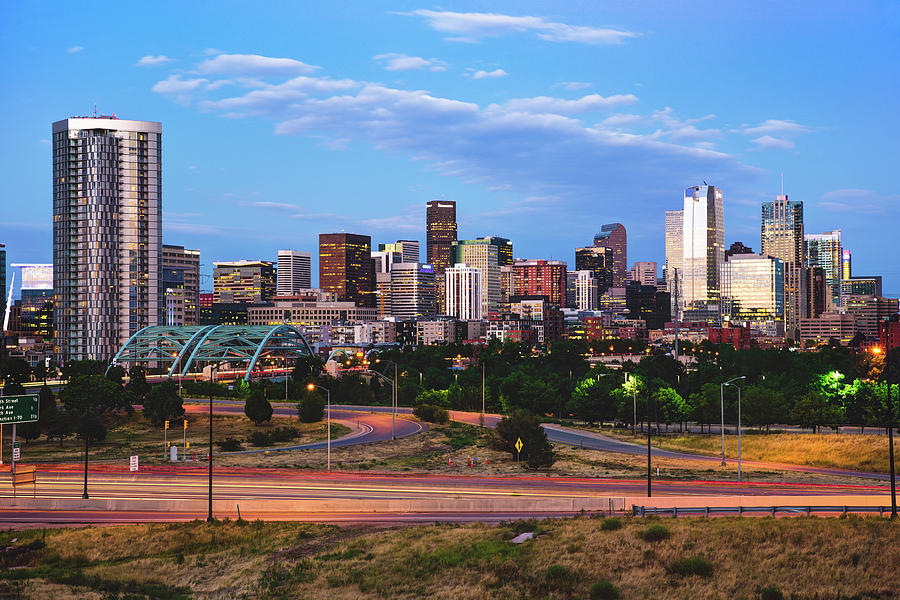 Denver Skyline Morning View Photograph By Gregory Ballos