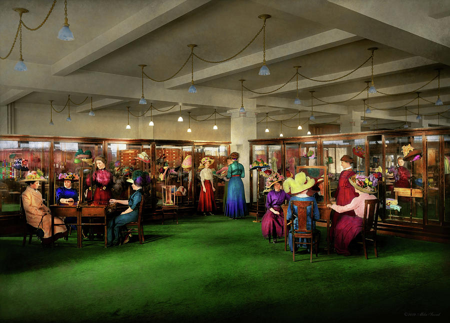 Department Store - Afternoon at the Hatters 1912 by Mike Savad