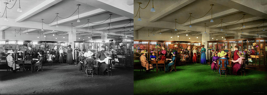 Department Store - Afternoon at the Hatters 1912 - Side by Side by Mike Savad