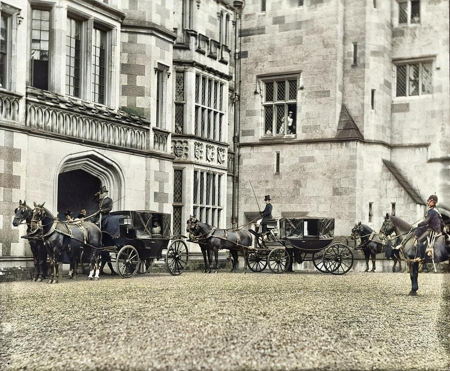 Departure Of Royal Party From Adare Manor, Adare, Co. Limerick Photograph Taken Wednesday, 1 Septemb Painting