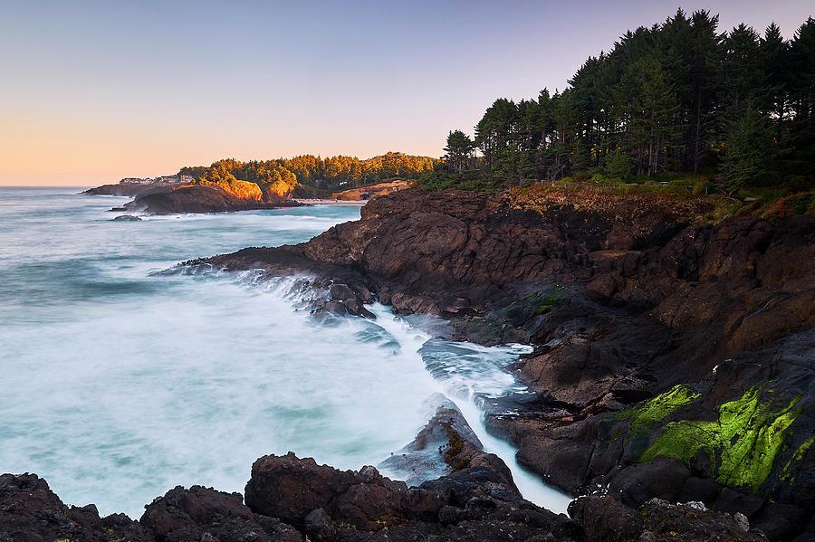 Depoe Bay Sunrise by Whitney Goodey