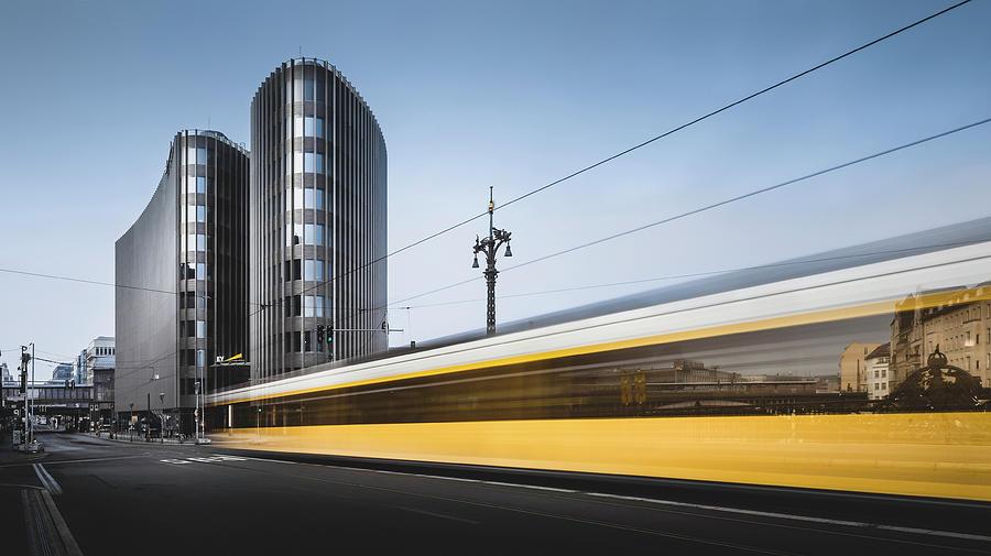 Contemporary Photograph - Der Gelbe Blitz, Berlin, Germany, 2015 by Ronnie Behnert