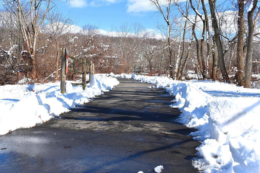 Derby Shelton Riverwalk in Winter by Nina Kindred