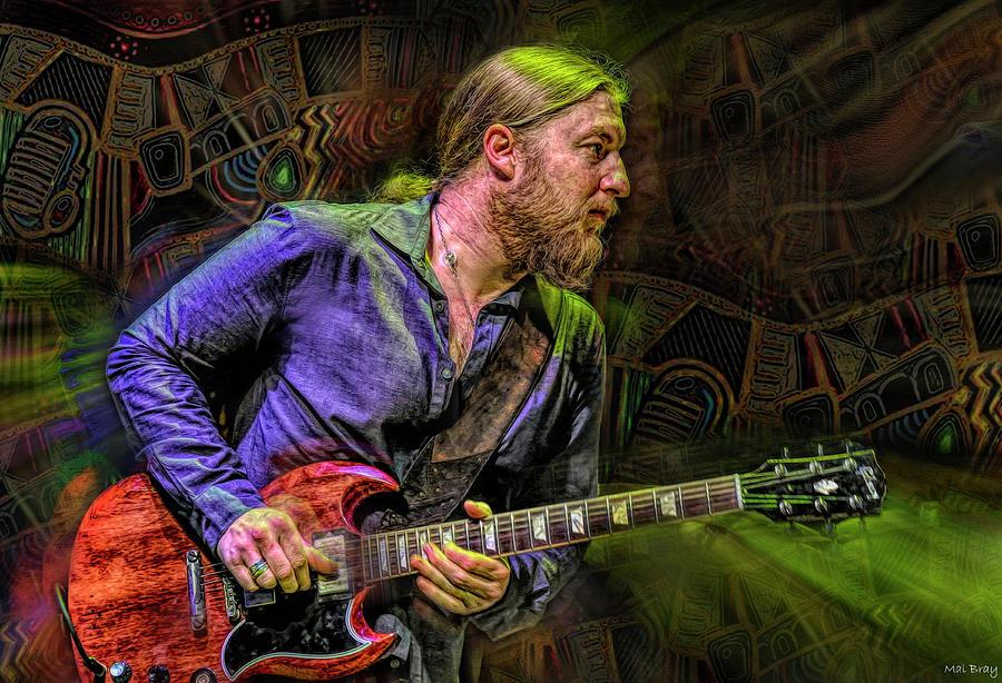 Derek Trucks Mixed Media - Derek Trucks Guitarist by Mal Bray