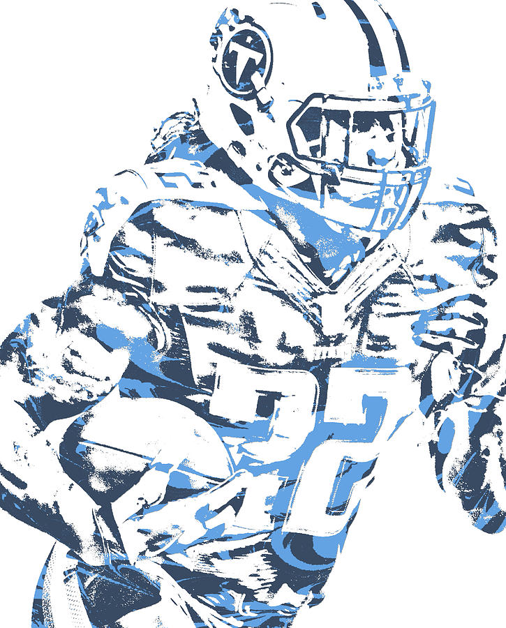 Derrick Henry Mixed Media - Derrick Henry Tennessee Titans Pixel Art 101 by Joe Hamilton