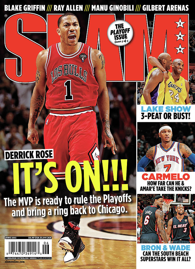 Derrick Rose: Its On!!! SLAM Cover Photograph by Getty Images