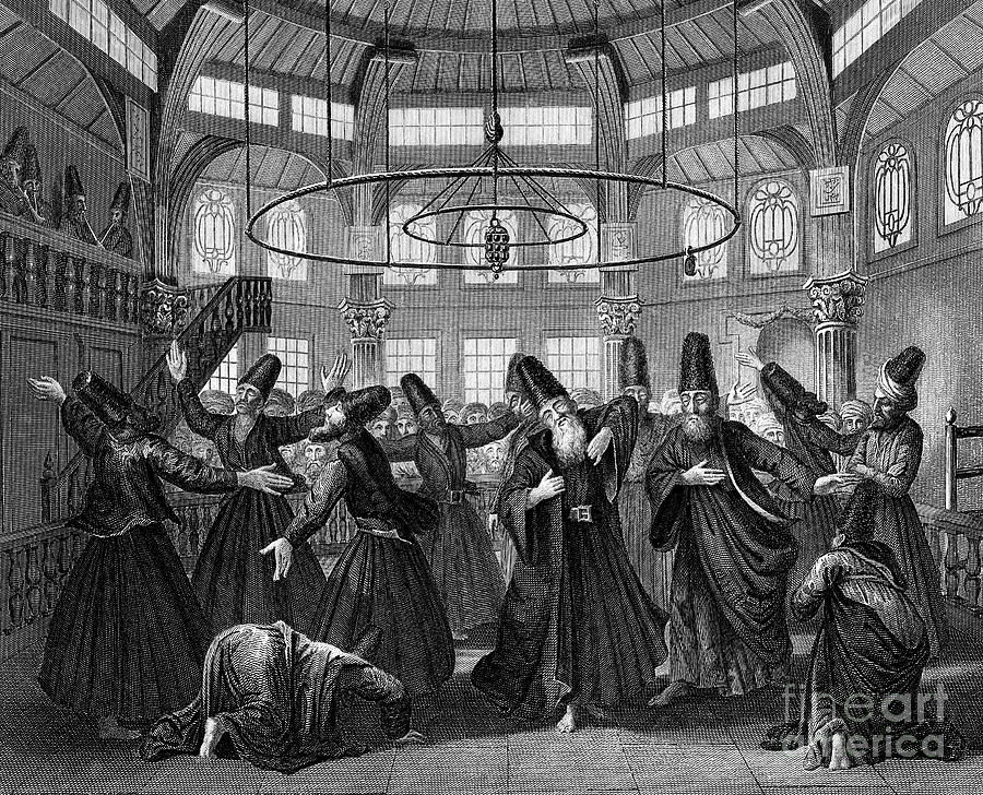 Dervishes, 19th Century Drawing by Print Collector