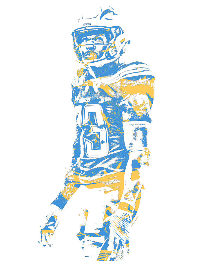 Chargers Mixed Media - Derwin James Los Angeles Chargers Pixel Art 2 by Joe  Hamilton 096be654a