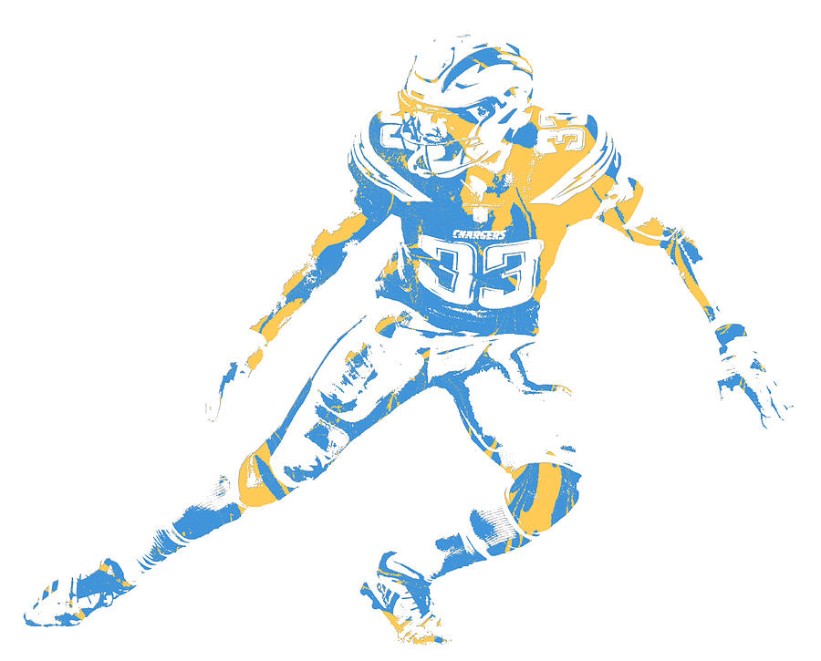 Chargers Mixed Media - Derwin James Los Angeles Chargers Pixel Art 3 by Joe  Hamilton fd7ef695a