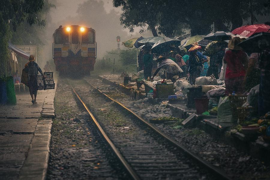 Railway Photograph - Des Trains Pas Comme Les Autres by António Carreira