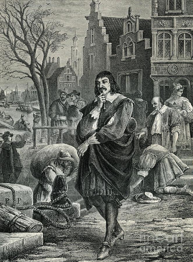 Descartes Drawing - Descartes In Amsterdam by European School