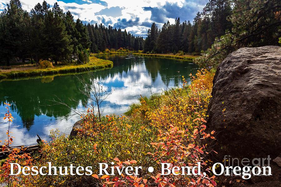 Deschutes River Photograph - Deschutes River, Bend, Oregon by G Matthew Laughton