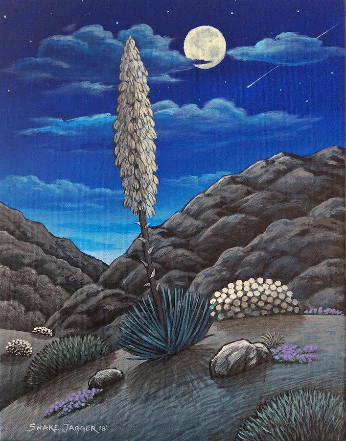 Desert Flowers Night View by Snake Jagger
