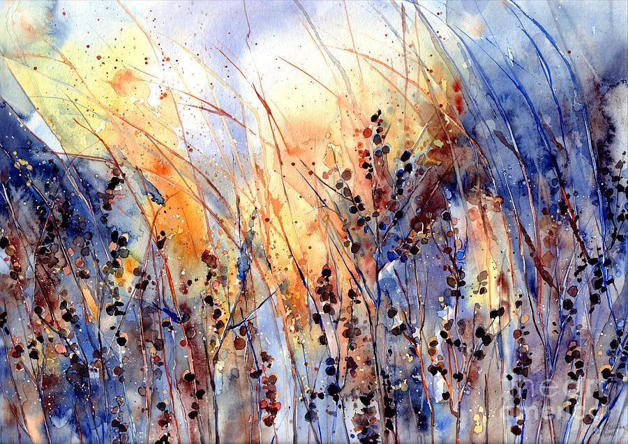 Desert Flower Painting - Desert Flowers by Suzann Sines