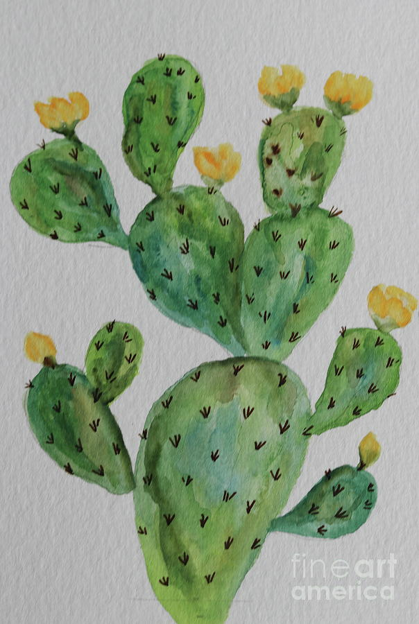 Cactus Painting - Desert Garden Beauty by Christiane Schulze Art And Photography