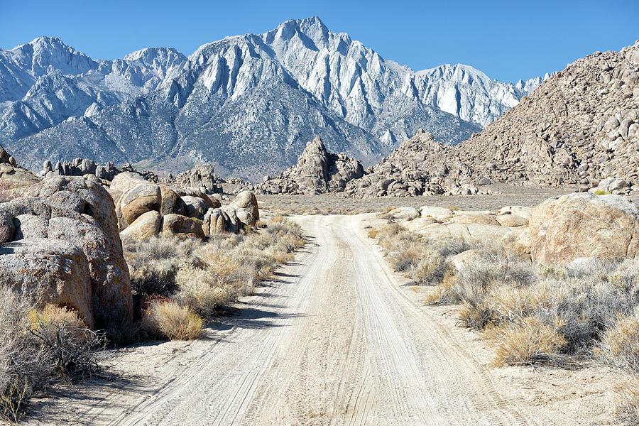 Desert Highway - Alabama Hills - Lone Pine - California Photograph