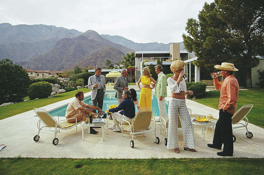 Desert House Party Photograph by Slim Aarons