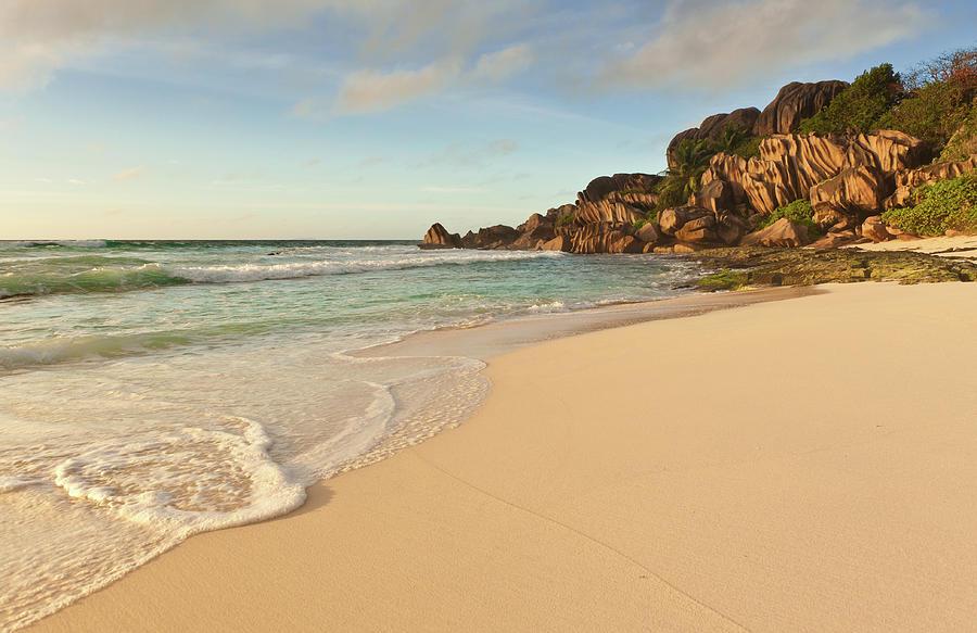 Desert Island Beach Tropical Ocean Shore Photograph by Fotovoyager