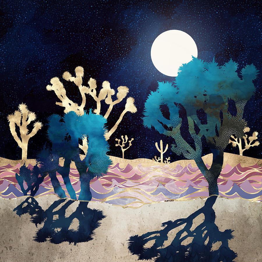 Desert Lake Moonlight by Spacefrog Designs
