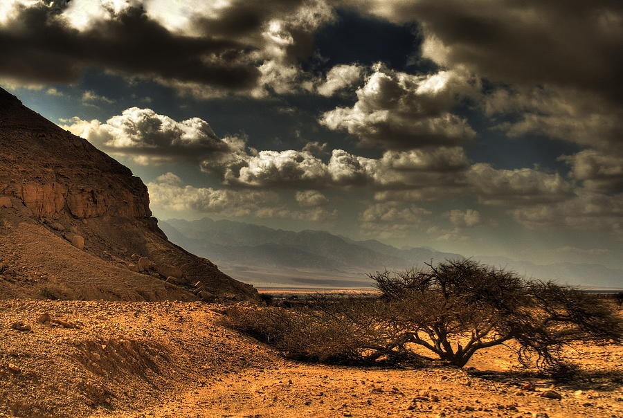 Desert  Mountains With Cloudy Sky Photograph by Avi Morag Photography