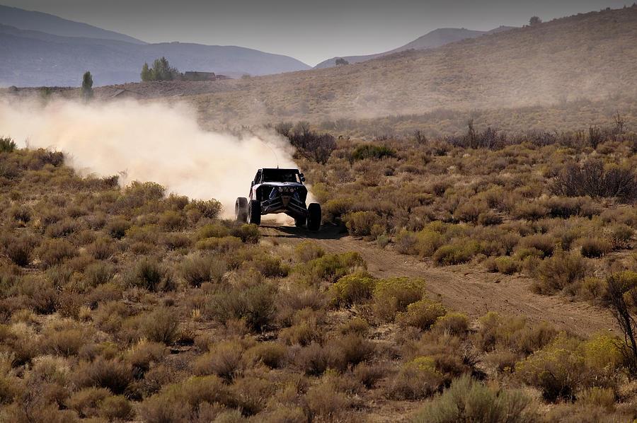 Desert Racing Truck Driving In Nevada Photograph by Martyn Goddard