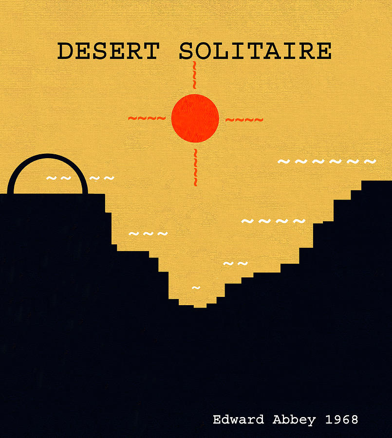Desert Solitaire Digital Art - Desert Solitaire Minimalsim Work by David Lee Thompson