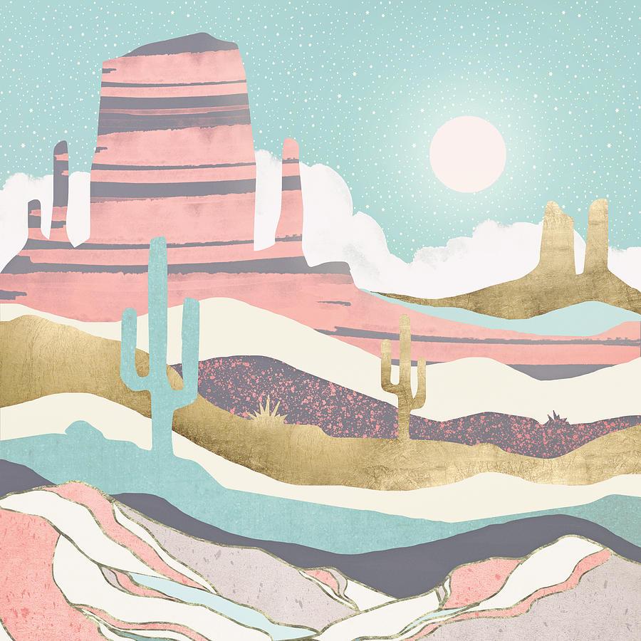 Digital Digital Art - Desert Sun by Spacefrog Designs