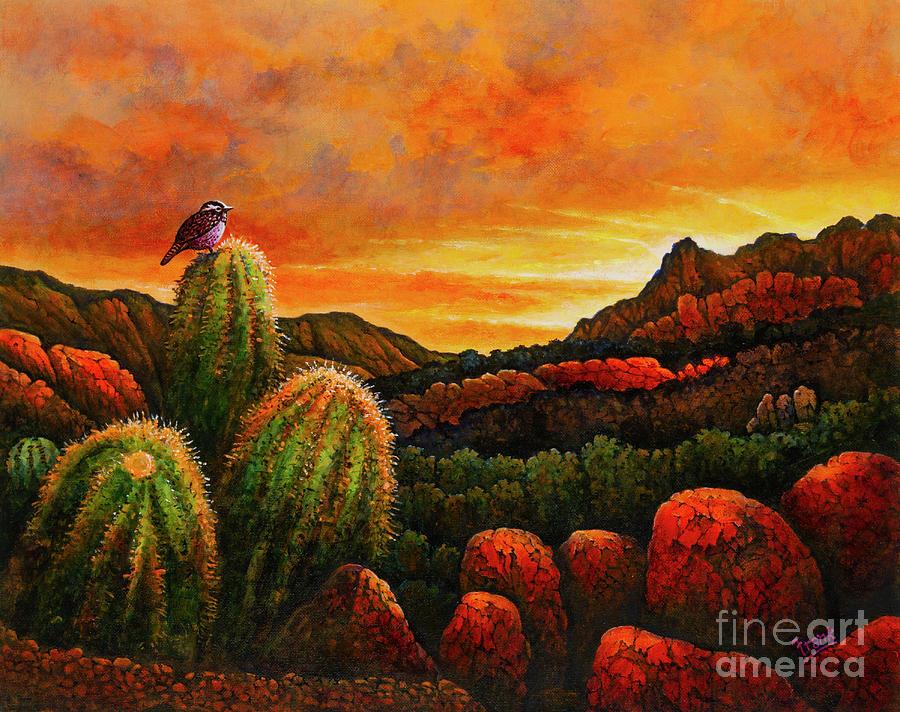 Desert Sunset by Michael Frank