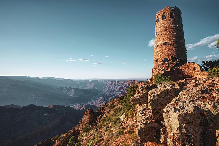 Desert View Watchtower Grand Canyon Arizona Photograph By