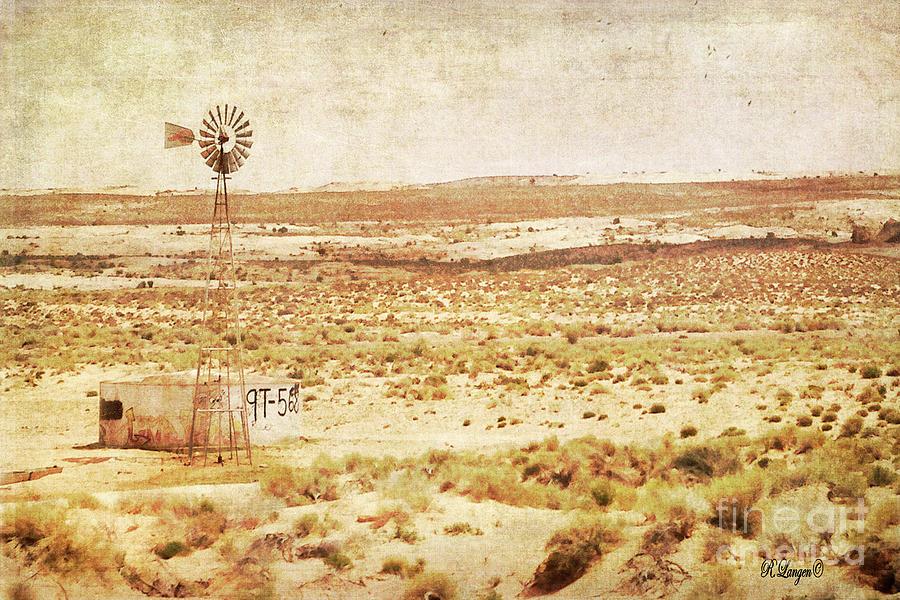 Desert Windmill by Rebecca Langen