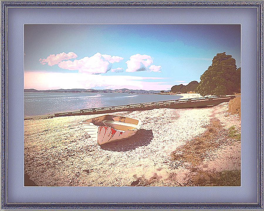 Deserted Dinghy by Clive Littin