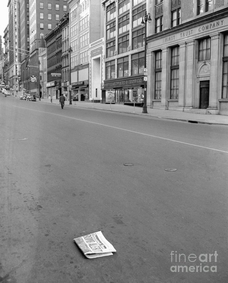 Deserted Street Scene After Initial Photograph by Bettmann