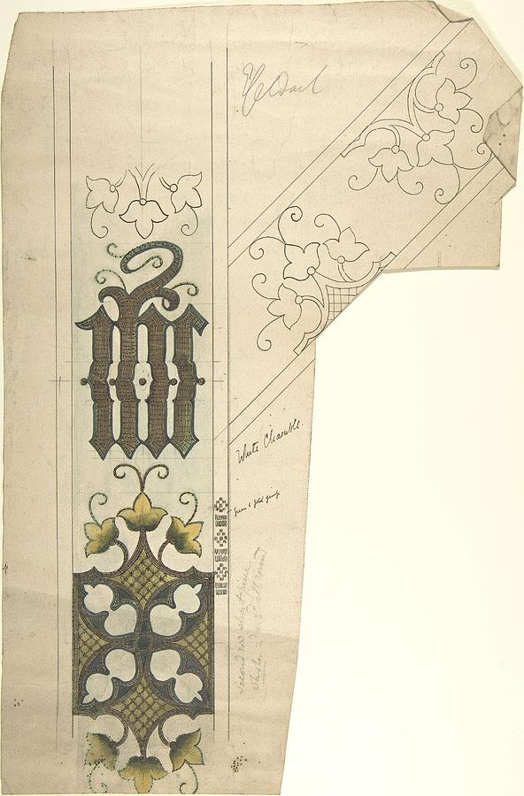 Design For A White Chasuble  Ernest Geldart British, London 1848-1929 Painting