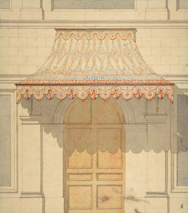 Design for an awning over a door, in Moorish style. by Jules-Edmond-Charles Lachaise Eugene-Pierre Gourdet