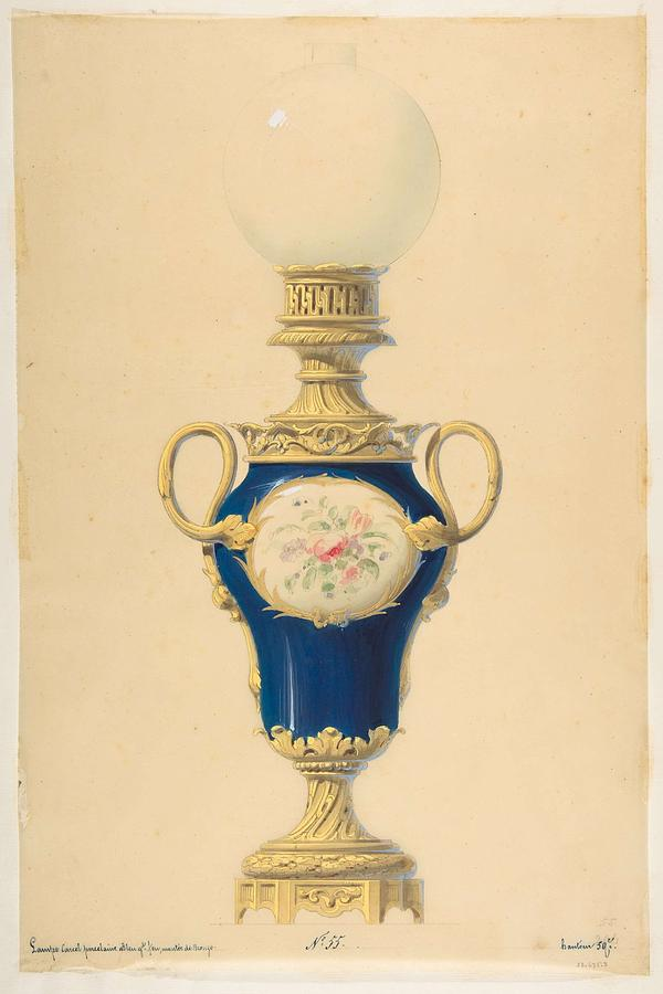 Design For An Oil Lamp  Anonymous, French, 19th Century Painting