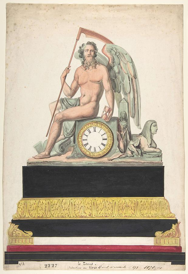 Design For Clock  Anonymous, French, 19th Century Painting
