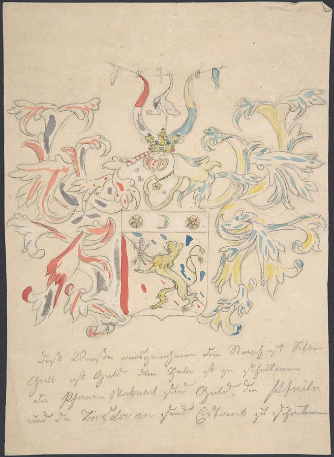Design For Coat Of Arms  Anonymous, 18th Century Painting