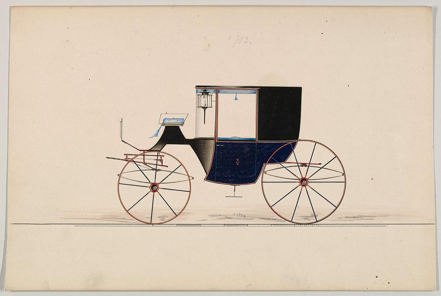 Design For Coupe Unnumbered Brewster And Co. American, New York Painting