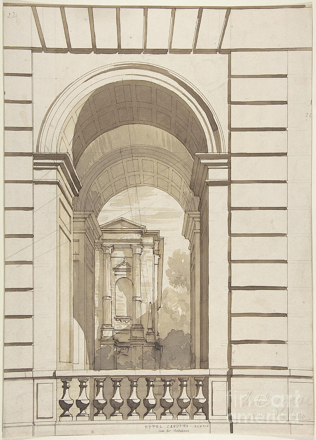 Design For Stable Arches Drawing by Heritage Images