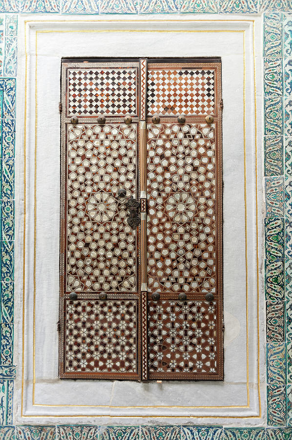 Design On Closed Shutters In The Photograph by Keith Levit / Design Pics