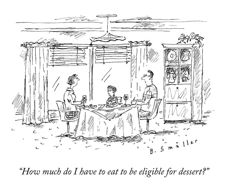 Dessert Eligibility Drawing by Barbara Smaller