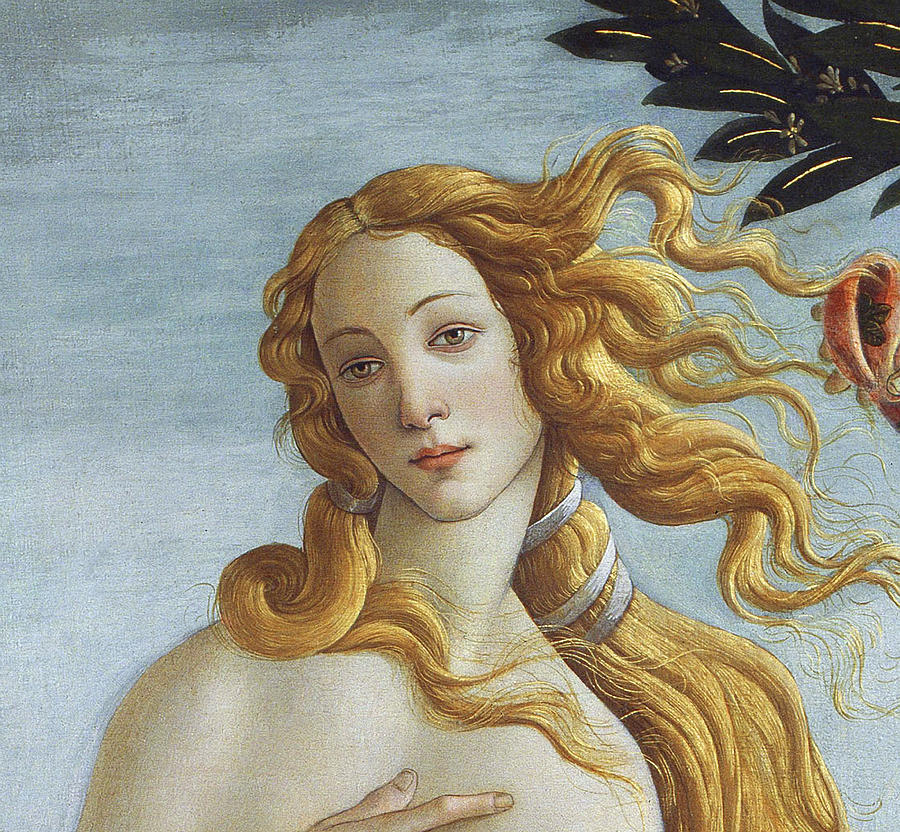 Detail From The Birth Of Venus, Circa 1485 Painting by Sandro ...
