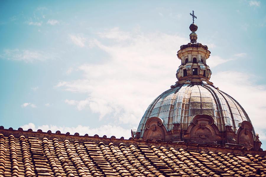 Detail of a church in Rome, Italy by Eduardo Huelin