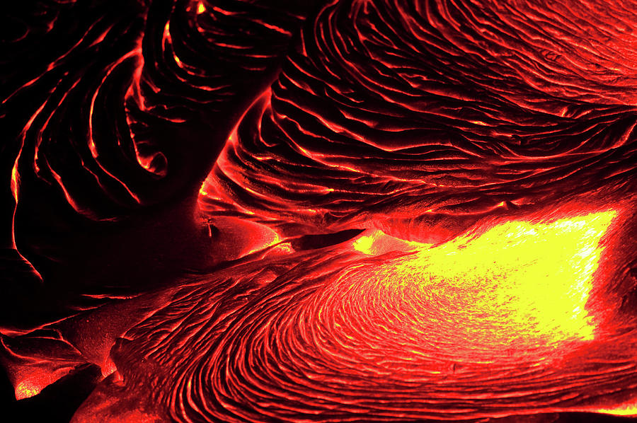 Detail Of Flowing Lava, Hawaii Photograph by Mint Images/ Art Wolfe