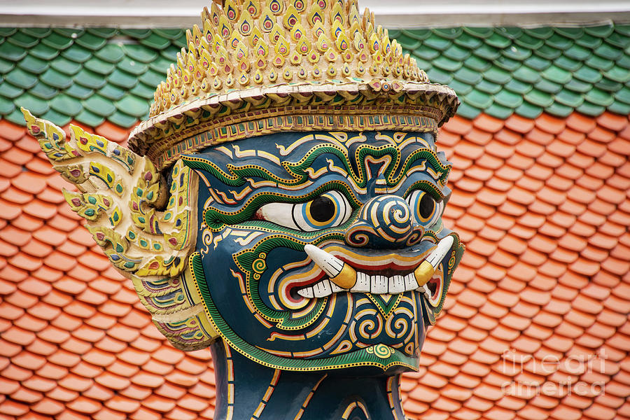 Detail of Grand Palace Green Faced Guardian by Bob Phillips