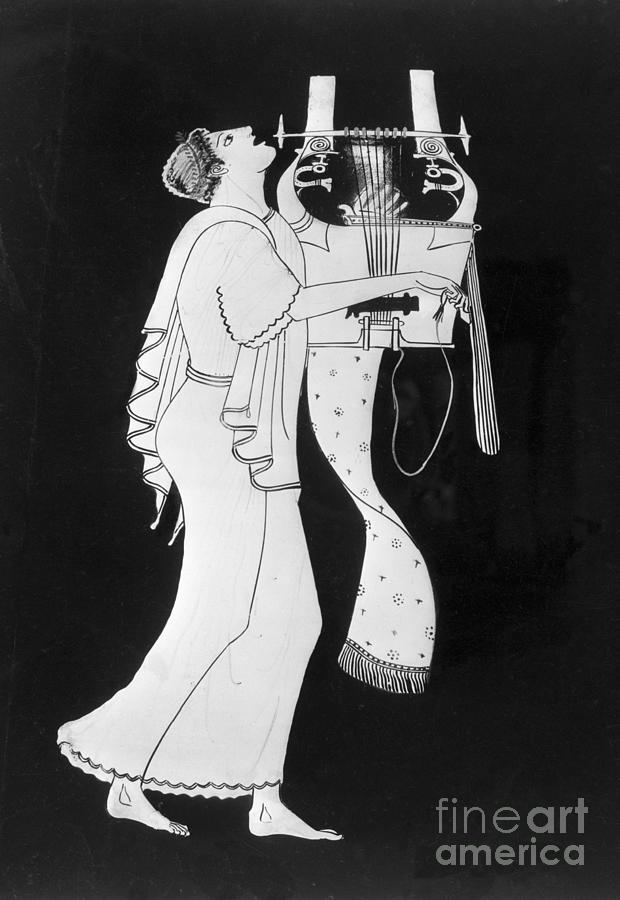 Detail Of Greek Amphora With Citharoedus Photograph by Bettmann