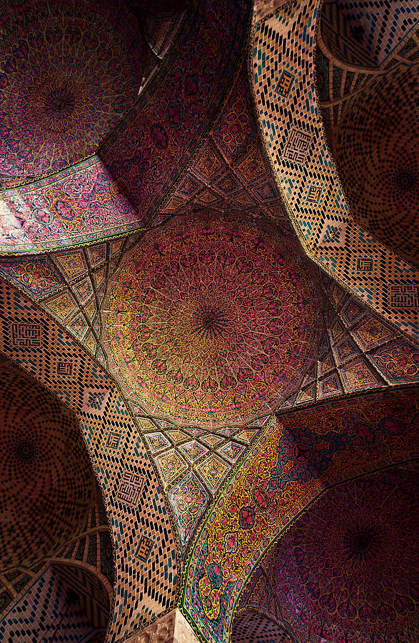 Detail Of The Ceiling Tilework Photograph by Len4foto