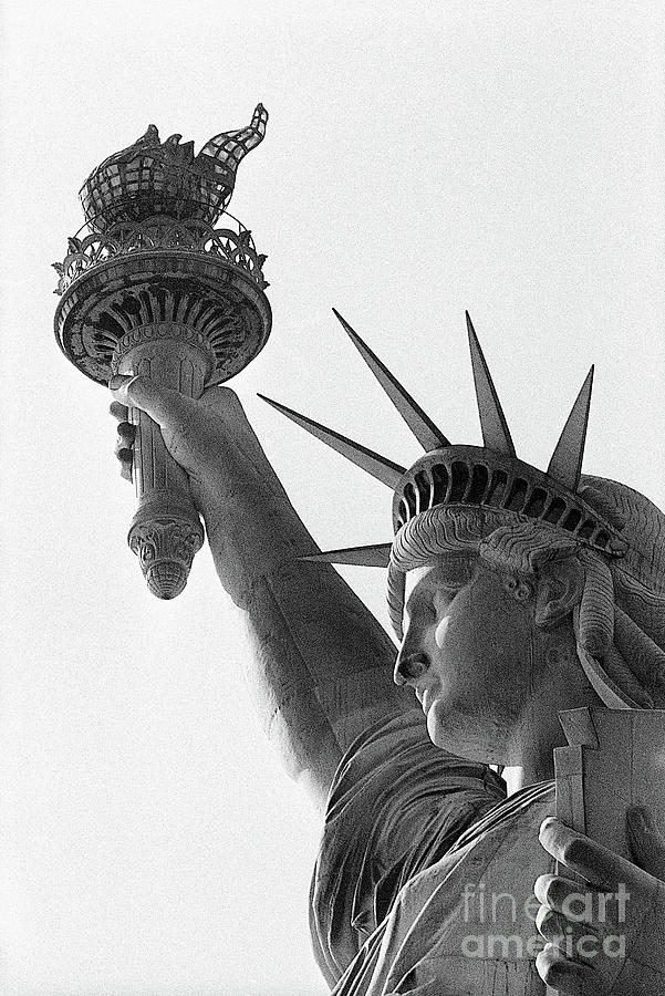 Detail Of The Statue Of Liberty Photograph by Bettmann
